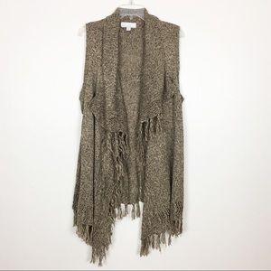 Carolyn Taylor Sleeveless Cardigan Sweater- XL
